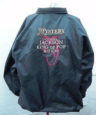 100% Genuine 1997 Michael Jackson History Tour Crew  Issue Jacket 52 Inch Chest