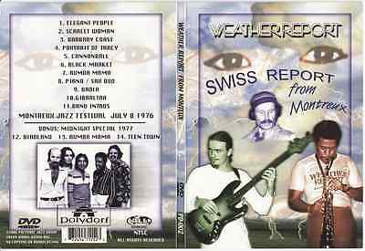 WEATHER REPORT Midnight Special 1977 3 Tracks Montreux Jazz Festival 7/8/76 DVD