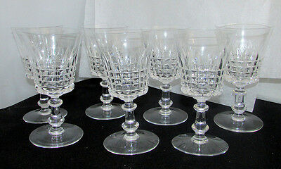 Val St Lambert Crystal Esneux Tall Water Goblets Mint / Sold Individually