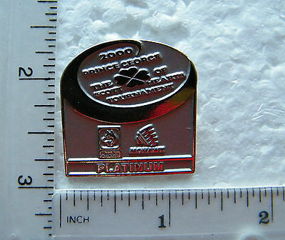2000  -  The Scott Tournament Of Hearts /  Platinum Curling  Brooch / Lapel Pin.