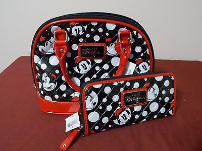 Disney Parks Boutique Black Red Minnie Mouse With Poke a dot Purse New