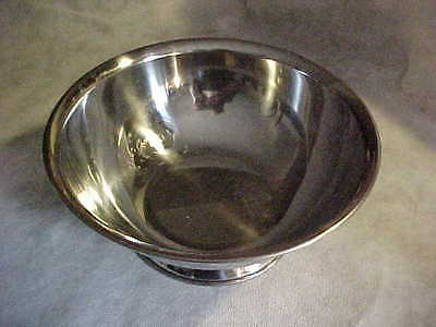 SALAD MASTER Vtg. SALADMASTER Pedestal Serving Bowl Stainless Steel RARE Caterer