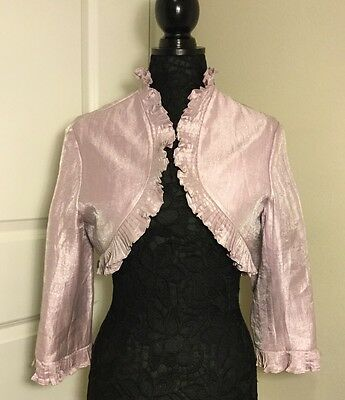 Adrianna Papell Occasions Lavender Bolero Jacket w/ Pleated Details Size 12