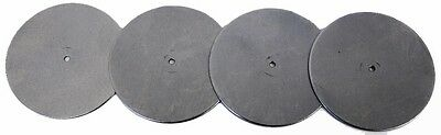 "2 3/4"" Dia Flat Metal Plate Discs w Hole 1/16"" Thickness Round STEEL 18 Ga Blank"