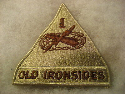 US Army Patch Armored 1st Division desert subdued