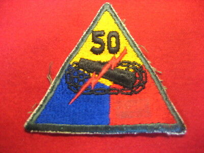 US Army Patch Armored 50th Division vintage