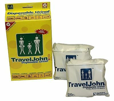 TRAVELJOHN 66911 Disposable Urinal Pouch (6 PACK)