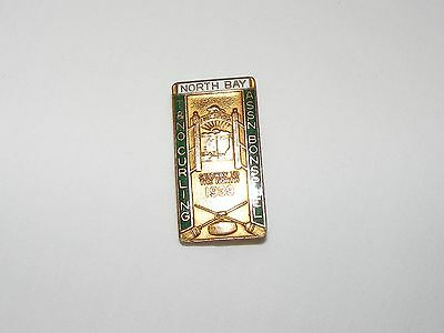 Vtg Antique North Bay  T & N.o. Assn Bonspiel Curling Club Pin  1939  Rare