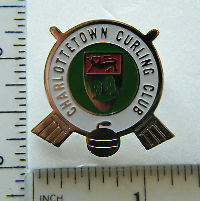 Charlottetown  Curling Club    /  Brooch / Lapel Pin.