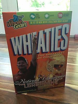 Wheaties 2005 Texas Longhorns National Championship Cereal Box - Sealed