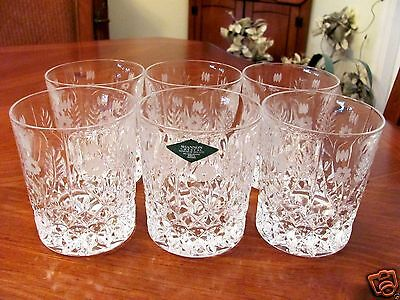 Gorgeous 'shannon' Irish Crystal 6 Double Old Fashioned Whiskey Liquer Glasses