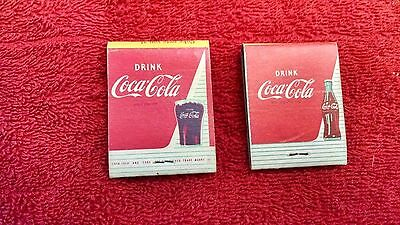 Coca-Cola matchbooks-1959-Bottle version & Glass Version-Very Good!