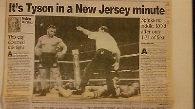 Mike Tyson vs Michael Spinks 1988 in  ATLANTIC CITY New Jersey knockout 1:31 !!