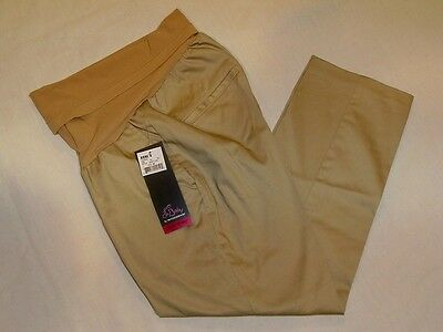 NEW OH BABY by MOTHERHOOD MATERNITY CAPRIS PANTS KHAKI TAN MEDIUM 8/10 $50