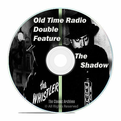 The Shadow, + The Whistler, 550 SHOWS, Old Time Radio, OTR, Suspense DVD-ROM F60