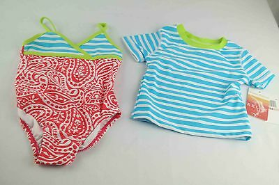 Tommy Bahama Girls One Piece Paisley Bathing suit with shirt size 2T new