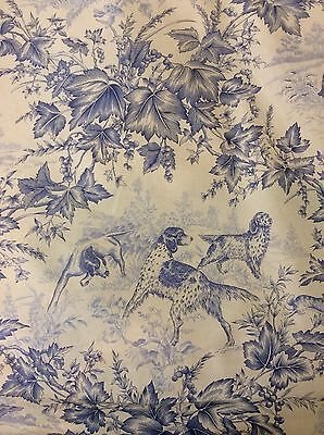 "5 1/2 Yards BRUNSCHWIG FILS Hunting Scene Toile Dogs ""On Point"" Pointers"