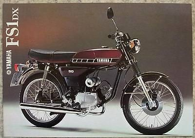 YAMAHA FS1 DX MOTORCYCLE 49cc Sales Brochure 1978 #LIT-3MC-0107125-78E