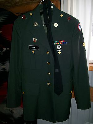 Military Jacket With Medals Pins Badges Patches Brass Buttons Awards Nice Piece