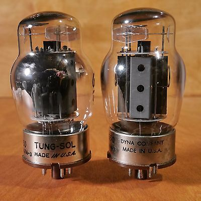 Tung-Sol 6550, Tube Pair (2) Tv-7 Tested, Test Strong