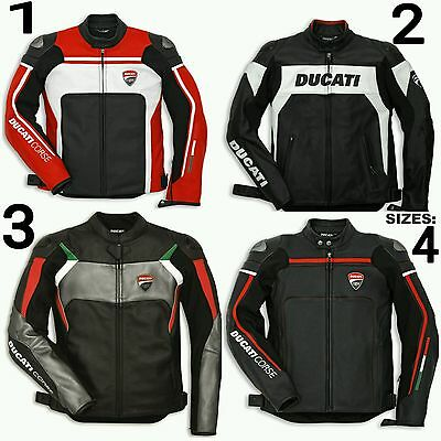 New Ducati  Motorbike leather Racing Mens Woman Jacket all size100% cowhide