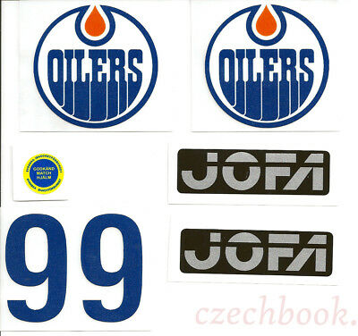 Replicated Vintage Jofa VM Helmet 225 & 235 51 Model Stickers. Gretzky Oilers 99