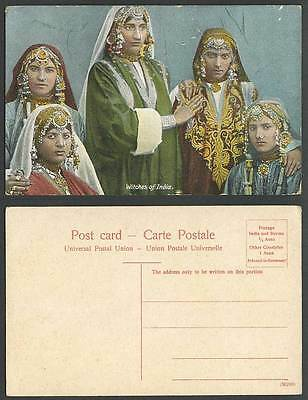 India Witches of Old Colour Postcard Native Indian Witch Women Ladies Costumes