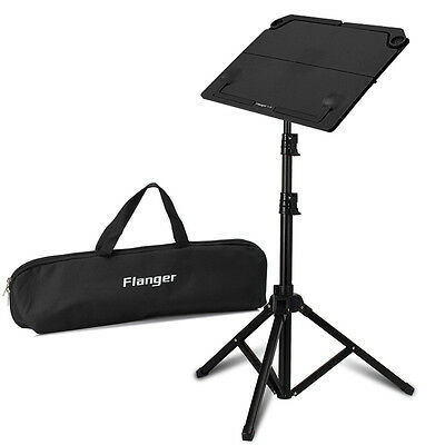 Metal Adjustable Sheet Music Stand Holder Folding Foldable Black
