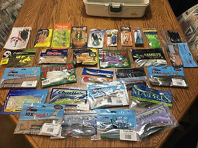 Saltwater Fishing Tackle Box lot FULL of Tackle, Lures, Bait- NEW -FREE SHIPPING