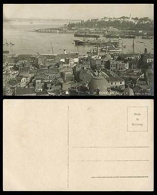 Turkey 1919 Old Real Photo Postcard Constantinople Pointe du Serail, Ships Boats