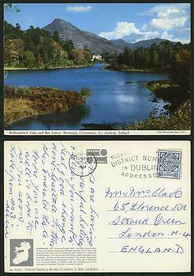 Ireland Co Galway 1964 Colour Postcard BALLYNAHINCH LAKE Mt Ben Lettery Mountain