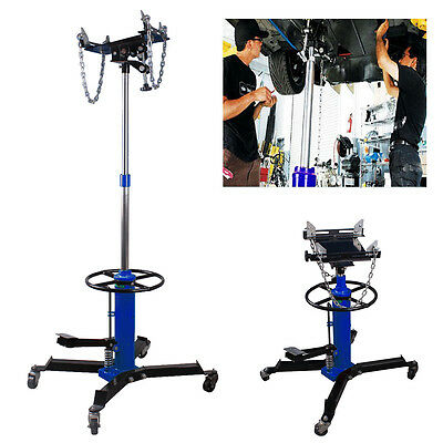 2 Stage 0.5 Ton 500kg Hydraulic Transmission Jack Stand Gearbox Lifter Hoist