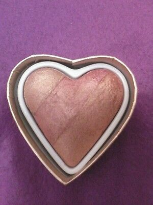 "I HEART MAKEUP REVOLUTION ""BLUSHING HEARTS"" Baked BLUSHER, HIGHLIGHTER, BRONZER"