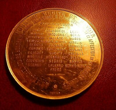 RARE !!! MEDAILLE NOTAIRE OR MASSIF 920°/°° 70,1 g ÉTAT by TOTTER SPL