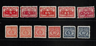 POLAND - 1920 Official stamps, 1919 Postage Due stamps