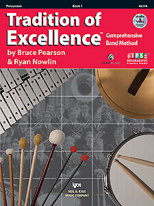 Pearson & Nowlin: Tradition of Excellence Book 1 Percussion + audio - Kjos W6...