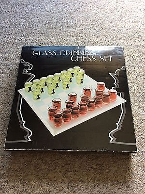 Glass Drinking Chess Set - Shot Glasses Drinking Game - Party Beer Wine Spirits