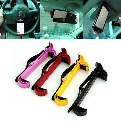 Universal Steering Wheel Cradle Holder Clip Car Mount Bracket For Cellphone GPS