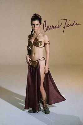 Signed CARRIE FISHER Princess Leia Star Wars PHOTO