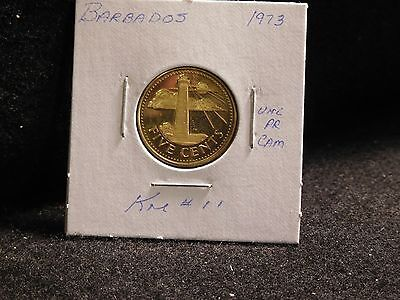 Barbados: 1973   5 Cents  Coin  Proof   (Unc.)    (#3850)  Km # 11