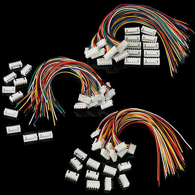 4S1P 5S1P 6S1P Battery Balance Charger Cable Wire Connector JST XH Plugs 10sets