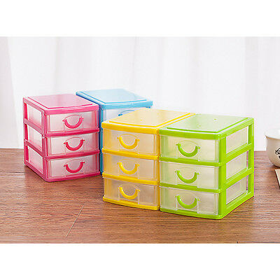Mini translucent Drawer type plastic Tray Office Home Desk Jewelry Organizer Box