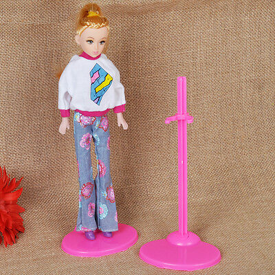 10x For Barbie Dolls Toy Stand Support Prop Up Mannequin Model Display Holders