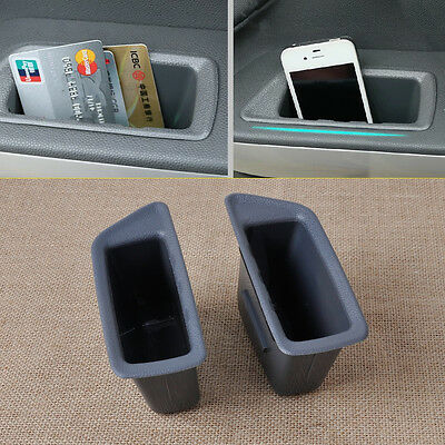 2PCS Front Door Container Armrest Storage Box For Ford Ecosport 2013 2014 2015