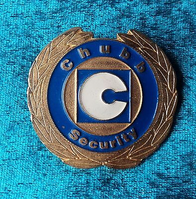 Obsolete Chubb Security Hat Badge