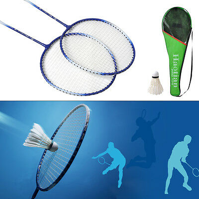 New 1Pair Top Quality high-strength Aluminium Alloy Badminton Racket Racquet Bag