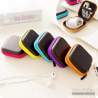 Earphone Headphone Earbud Carrying Hard Case Protective Storage Pouch Bag Holde