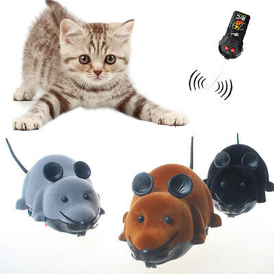 Funny Remote Control Mouse Toy Two-way Animal Flocking Tricky Rotation Rat