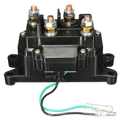 Winches Solenoid Relay Contactor +Winch Rocker Thumb Switch For ATV UTV Polaris