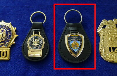 NYPD Seal leather Key Ring # no Badge